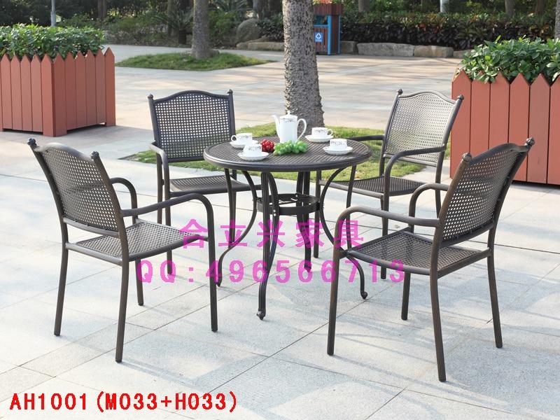 Cast aluminium teras luar meja dan kursi balkon luar besi for Aki mesas jardin