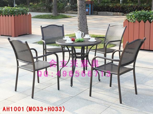 alluminio pressofuso outdoor patio tavoli e sedie balcone esterno ... - Alluminio Sedia Imbragatura Per La Decorazione Del Patio