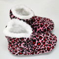Women Winter Warm Soft Sole Plush Cotton-padded Shoes Coral Fleece Rose Home Slippers Indoor Home Shoes Foot Warmer Floor Socks