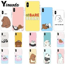 Yinuoda We Bare Bears brothers Smart Cover Soft Shell Phone Case for Apple iPhone 8 7 6 6S Plus X XS MAX 5 5S SE XR