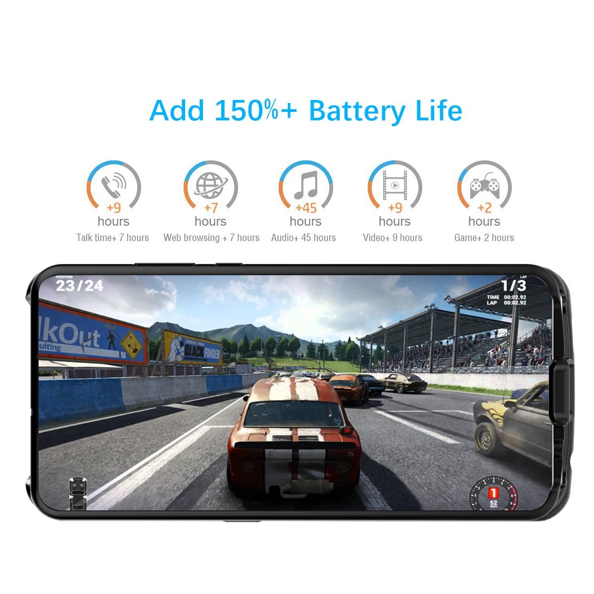 Dla Huawei P30 Lite Nova 4e pojemnik na baterie 6500 mAh akumulator zapasowy powerbank etui na Huawei P30 Lite baterii etui z ładowarką