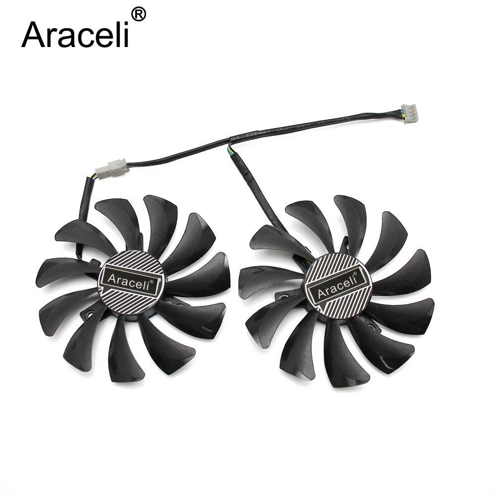 2pcs/lot 85mm  GTX 1060 Cooler Fan DC 12V 4Pin Fan Replace For INNO3D GeForce GTX 1060 3GB X2 / GTX 1060 6GB X2