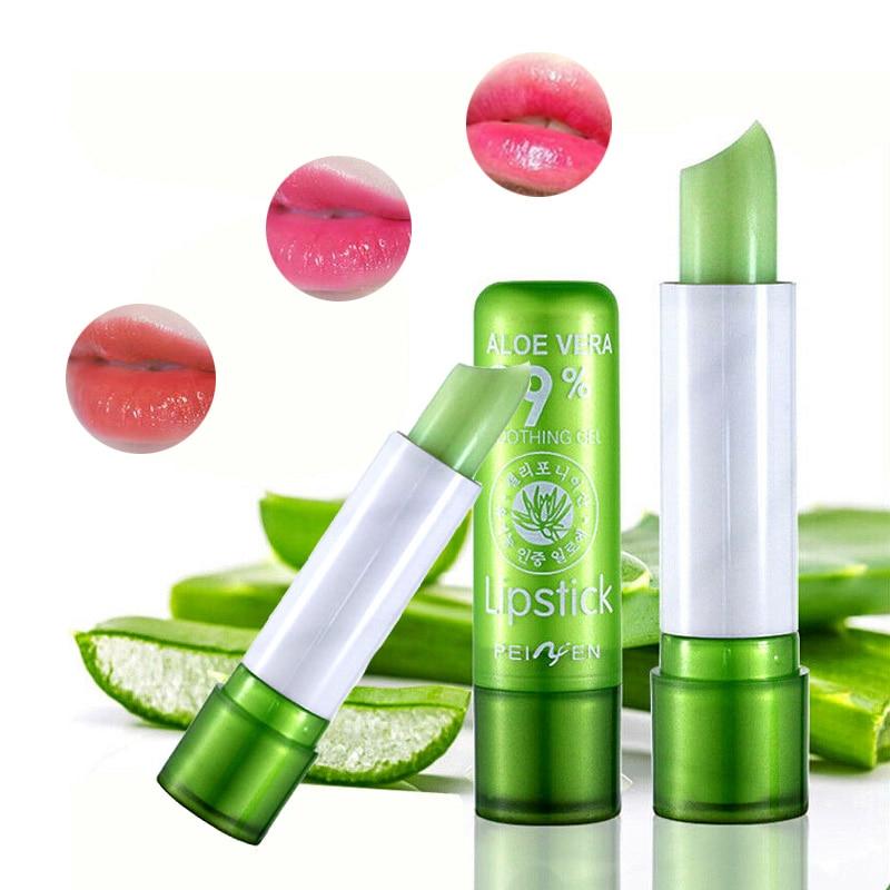 HOT Moisture Melt Lip Balm Long-Lasting Change Color lipstick Aloe Nonstick Cup Anti Aging Makeup Care Beauty Hot Sale