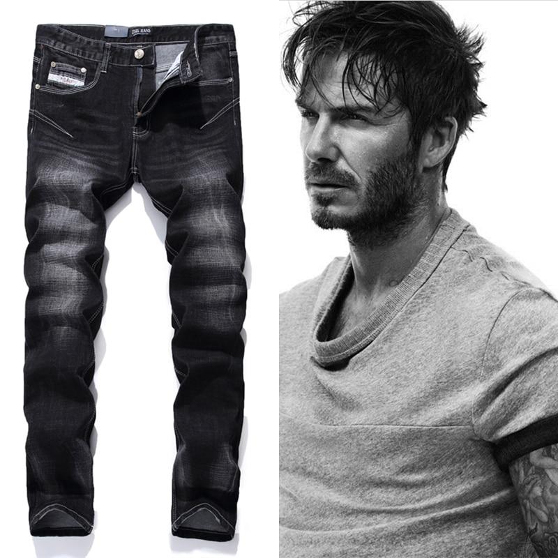 Black Printed Jeans Men Fashion Designer Logo Brand Jeans Trousers High Quality Mens Jeans Slim Straight Denim Jeans Man F702