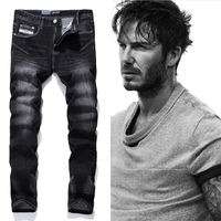 Black Printed Jeans Men Fashion Designer Logo Brand Jeans Trousers High quality Mens Jeans Slim Straight Denim Jeans Man F702