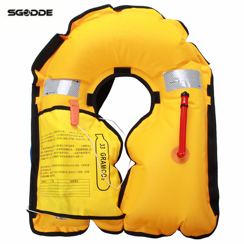 NEW Water Sport Wear Adult Manual/Automatic Swimming Life Jacket Life Vest For Drifting Boating Survival Fishing Safety Jacket environmentally friendly pvc inflatable shell water floating row of a variety of swimming pearl shell swimming ring