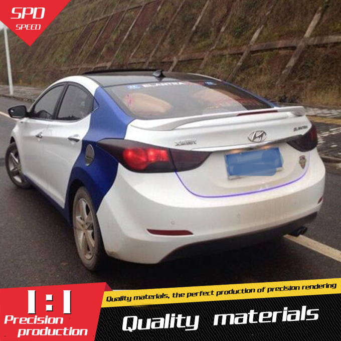 for hyundai elantra spoiler abs material car rear wing primer color rear spoiler for hyundai elantra