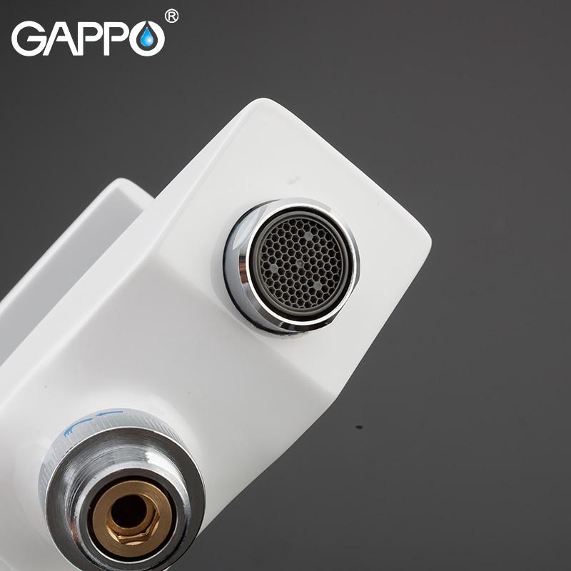 GAPPO Bathtub Faucet wall mounted white bathtub faucets bathroom brass bath taps do anheiro bathtub faucet waterfall