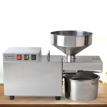 Prensa de aceite rápida comercial de grado Industrial eléctrica de acero inoxidable mediana máquina automática de prensado de aceite en frío y caliente