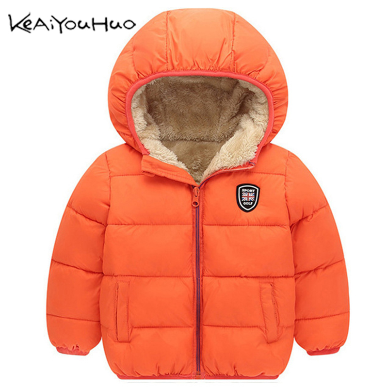Winter Kids Outerwear Boys Girls Down Jacket New Year's Costumes For Boys Warm Baby Vest Child Fur Hooded Coat Clothing Clothes(China)