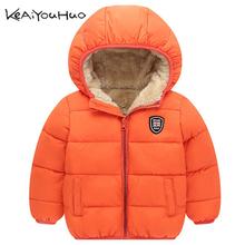 Zima dzieci Outerwear Boys dziewcząt dół kurtki nowe lata kostiumy dla chłopców ciepłe dziecko kamizelka futro z kapturem płaszcz ubrania odzież tanie tanio Odzież wierzchnia i Płaszcze Z KEAIYOUHUO Pełne Czesankowa Hooded Unisex Pasuje do rozmiaru Weź swój normalny rozmiar