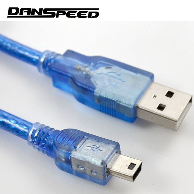 DANSPEED USB 2.0 Type A Male to Mini B 5pin Male PC Data Cable Cord Leads Length 30cm