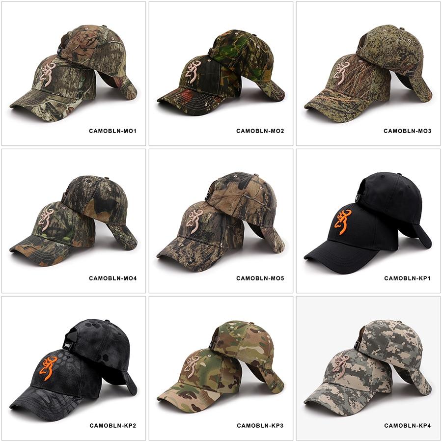 KOEP Browning Camo Baseball Cap Fishing Caps Men Outdoor Hunting Camouflage