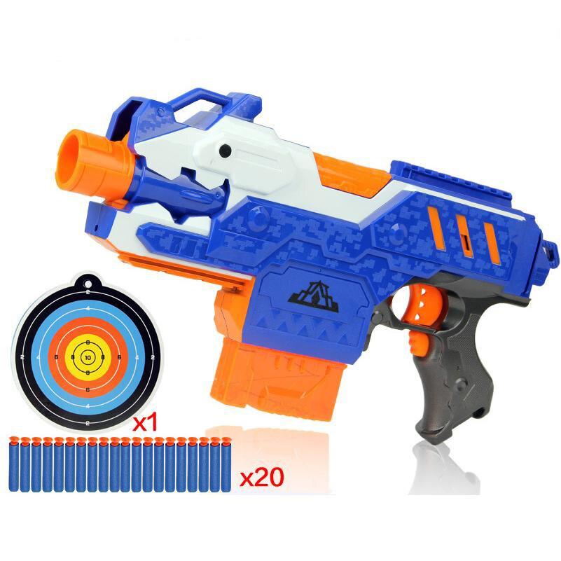 все цены на Eva2king Electric Soft Bullet Toy Gun For Children Dart Suit for Nerf Darts Perfect Suit for Nerf Gun Bullet GunsSniper Rifle онлайн