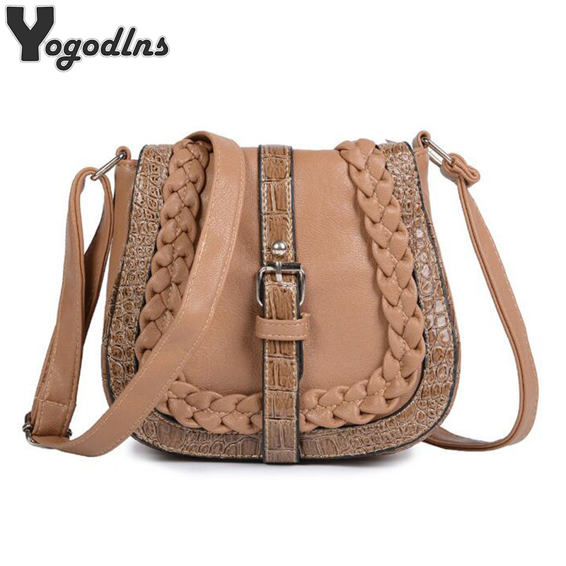 2019 New Styles Woman Messenger Bags Fashion National Wind Shoulder Bag Knitting Crossbody Bag Handbags High Quality