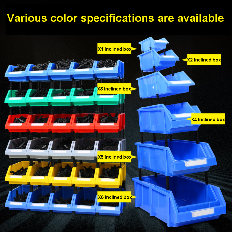Thickening Storage Shelves Case Inclined Mouth Component Combination Component Box Plastic Box Screw Box Vertical  Storage Box
