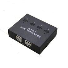 Usb divisor usb compartilhamento interruptor 4 em 4 para fora teclado e mouse compartilhamento interruptor de impressora compartilhamento para computador