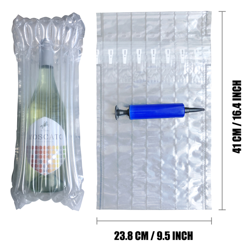 Wine Bottle Protector 15 Pack Inflatable Wine Sleeves Air Cushioning Bags Shockproof Packaging Wrapper For Glass Bottles Bubble(China)