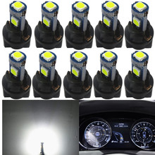 WLJH 10x T5 LED Wedge Bulbs Canbus 74 73 Auto Car LED Gauge Cluster Dashboard Light Lamp Instrument Panel Indicators For Honda стоимость