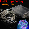 Battery Led String Light 2M 20LED 5M 50led 10M 100LED 3pcsAA Battery Operated Outdoor Indoor Home Christmas Decoration Light