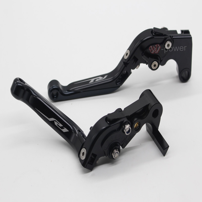 Motorcycle cnc adjuster fold expandable brake clutch lever for yamaha r1 logo YZFR1 yzf-r1 yzf-r1s yzf-R1m 2015-2016 black 6 colors cnc adjustable motorcycle brake clutch levers for yamaha yzf r6 yzfr6 1999 2004 2005 2016 2017 logo yzf r6 lever