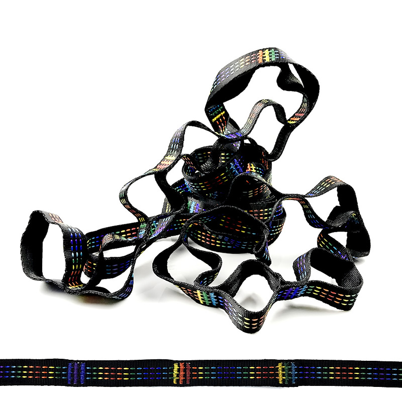 Hammock Straps 2800*2.5mm Rainbow color Hammock Strap BeltHammock Straps 2800*2.5mm Rainbow color Hammock Strap Belt