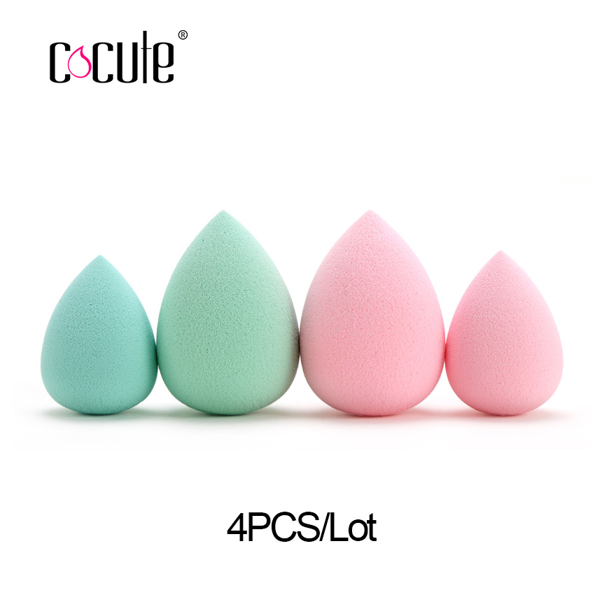 Cocute 4Pcs/lot Face Makeup Sponge Powder Cosmetic Puff Blending Foundation Sponge Facial Beauty Concealer Make up Sponges Tools