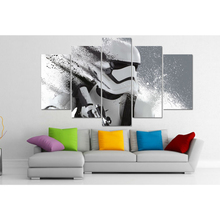 Star Wars Character Pictures Home Decor 5 panels