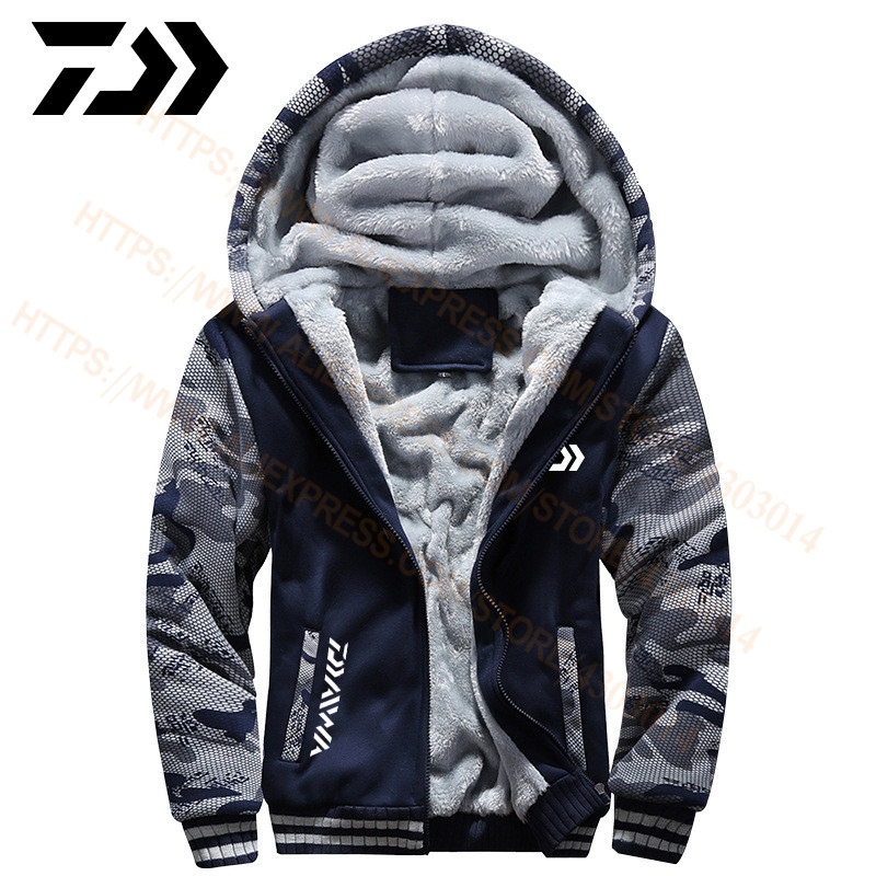 DAIWA Fishing Clothing Spring Autumn Outdoor Sport Camouflage Fishing Sweatshirts Men Plus Size DAWA Fishing Clothes Hoodies