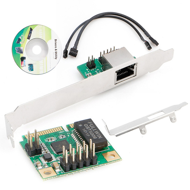 10/100/1000 Mbps Mini PCI-Express mPCIe para 1000 M Rj45 Gigabit Ethernet Lan Card