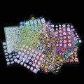 30 Sheet / Lot Floral diseño manicura transferencia Nail Art Tips de las etiquetas engomadas 3D flores belleza Tickers para uñas JH177