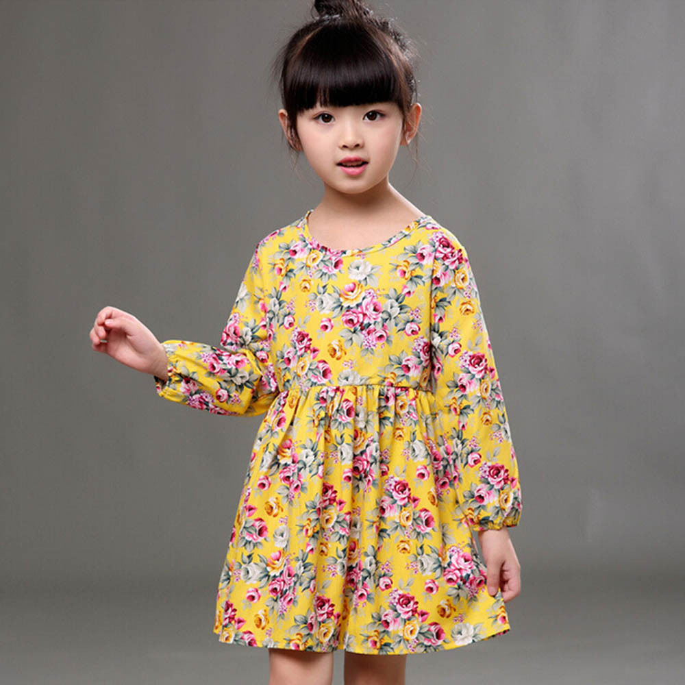 MUQGEW Toddler Baby Girls Dress Spring Long Sleeve Princess Party Pageant Floral Dresses Kids Clothes Vestido Infantil new spring autumn cotton long sleeved dress baby girls dresses for party floral costume for kids clothes vestido infantil t