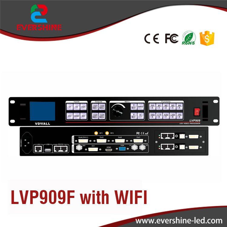 WIFI Control HD LED video Wall processor LVP909F for Conference Stage Advertising LED Display Panel Usage advertising inflatables stars for stage