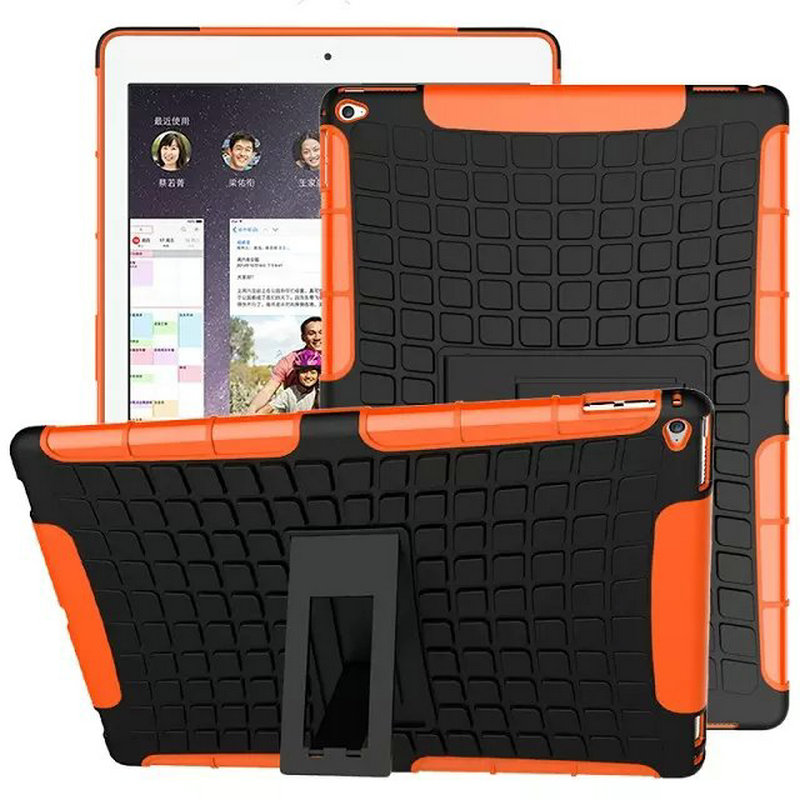 все цены на For Case ipad pro 12.9 Dual Armor Hybrid TPU&PC with Stand Holder Protective Skin Double Color Shock Armor Rugged Hard Cover
