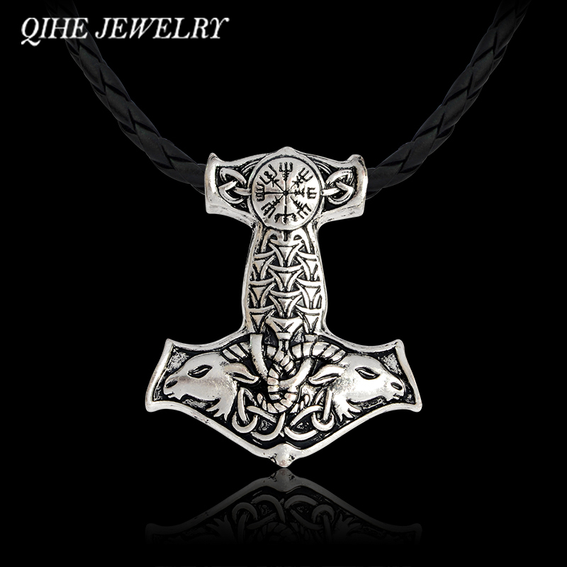 Schmuck & Zubehör Xcc Einstellbare Leder Nordischen Vikings Amulett Ziege Thors Hammer Armband Original Tier Knoten Viking Schmuck