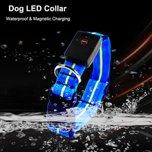 Waterproof LED Dog Collar Original Magnetic Charging Glowing Anti-Lost For Dogs Puppies Collars Leads Pet Product