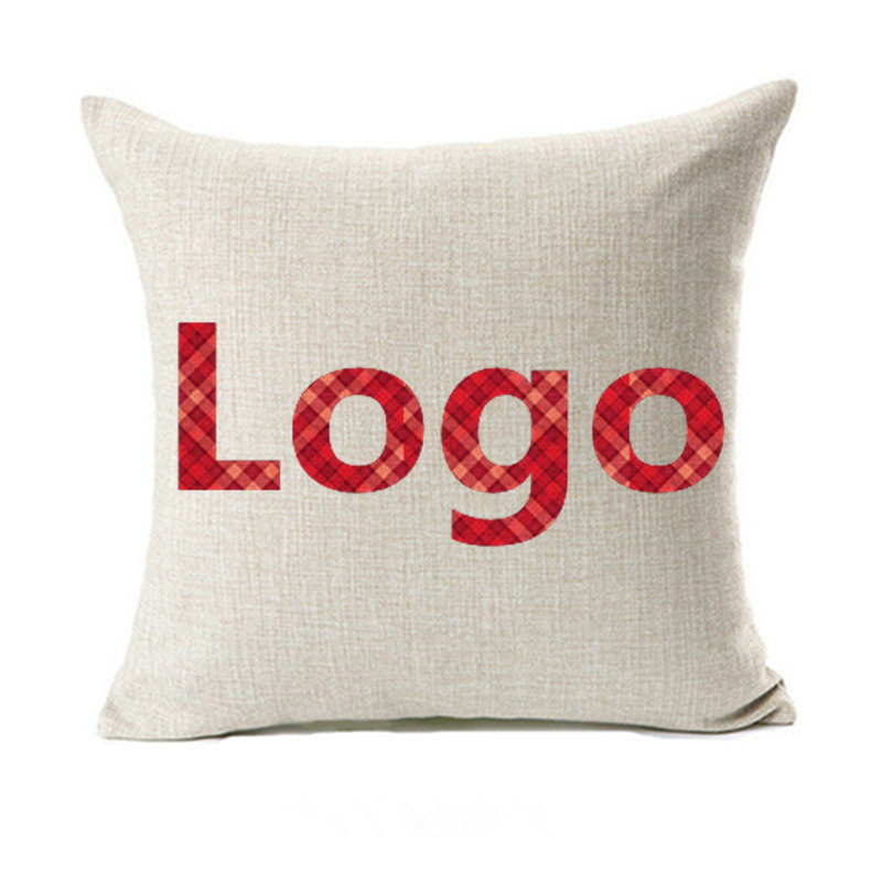 Логотип печати OEM Подушки Чехлы для мангала одна сторона печати реклама промо-подарок автомобиль диван любовь стул Пледы Подушки из хлопка ...