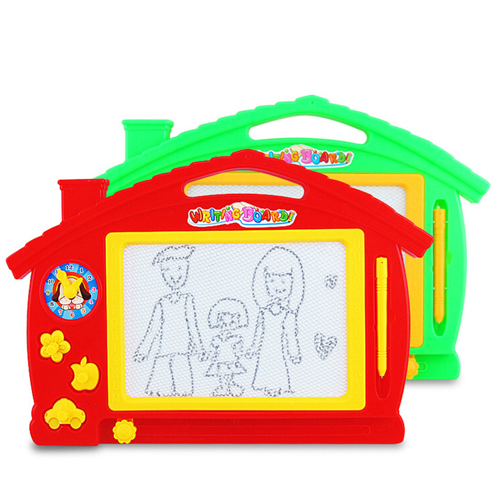 3 year old baby Plastic black and white graffiti Magnetic Writing Painting Drawing Graffiti Board Preschool Tool july19 P30