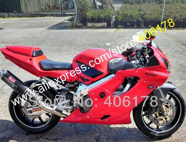 Hot Sales,For HONDA CBR600 CBR600F4i 01 02 03 RED BLACK CBR600 F4i CBR 600 600F4i 2001 2002 2003 Fairing (Injection molding)
