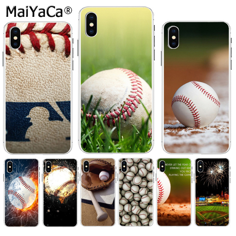 MaiYaCa Sport baseball Court Newest Super Cute Phone Cases for Apple iPhone 8 7 6 6S Plus X XS max 5 5S SE XR Mobile Cover