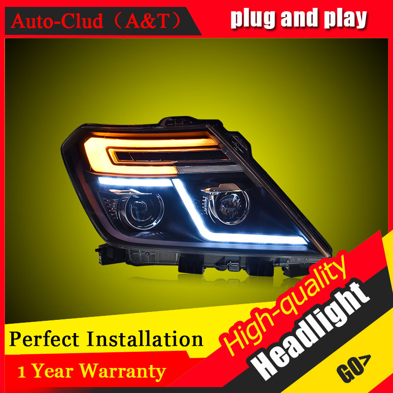 Auto Clud Car Styling For Nissan patrol headlights 12-17 For patrol head lamp led DRL front Bi-Xenon Lens Double Beam HID KIT car styling head lamp 2007 2011 for highlander headlights led head lamp drl front bi xenon lens double beam hid kit