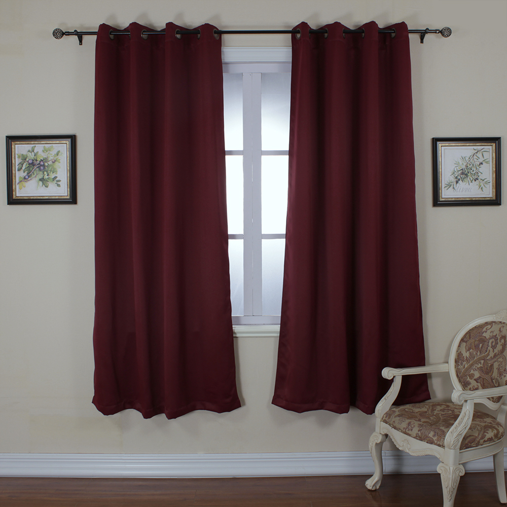 Ready Made Thermal Curtains Us 17 09 One Piece Ready Made Curtains For Living Room Modern Blackout Solid Thermal Insulated Crimson Curtain Flat Window Cortinas Gasa In Curtains