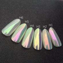 0.2g Aurora Neon proszek pigmentowy lśniący efekt kameleon proszek Neon jednorożec chrom paznokci tęczy pył paznokci artystyczny Manicure