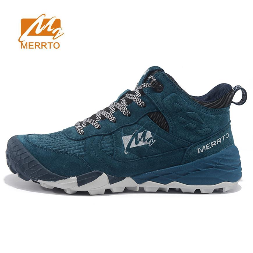 MERRTO Mens Hiking Boots Leather Outdoor Hiking Trekking Boots For Men Sports Shoes Man Trekking Shoes  Climbing Mountain Boots