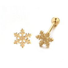 Snowflake tongue ring