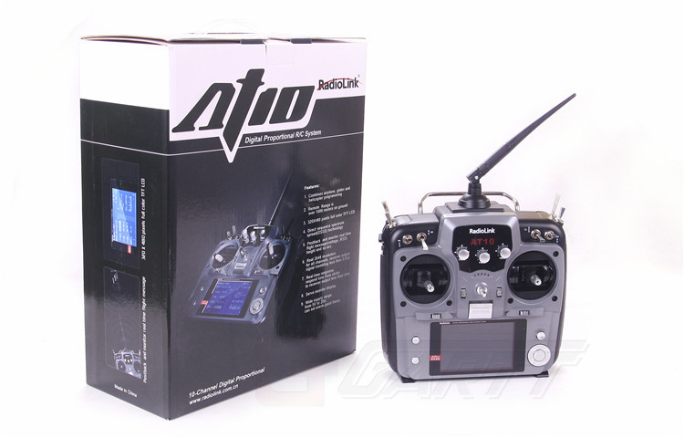 Freeshipping Radiolink 2 4GHz 10 Channel AT10 Transmitter Radio R10D Receiver for RC Helicopter Airplane qudcopter