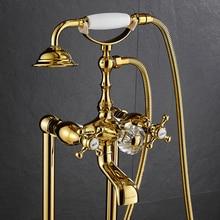 AUSWIND Batheoom Luxury Faucet soild brass crystal Faucet Hot&Cold wall mount bathroom product gt7