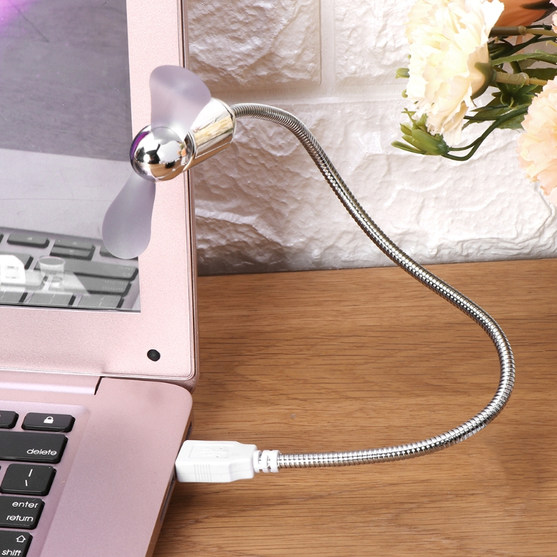 Image 2 - Mini USB Fan Flexible USB Cooling Fan with Switch For Notebook Laptop Computer Office Gadgets hyq-in USB Gadgets from Computer & Office
