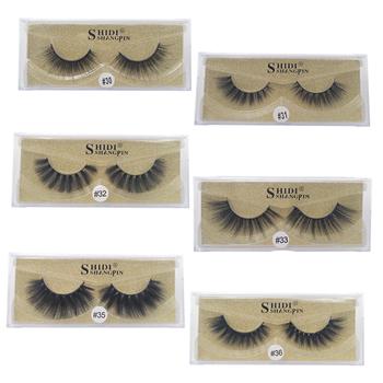 771c40c33b4 SHIDISHANGPIN 1 pair 3d mink lashes false eyelashes 3d mink eyelashes  natural long eyelashes hand made makeup full strip lashes. Mikiwi D341 .