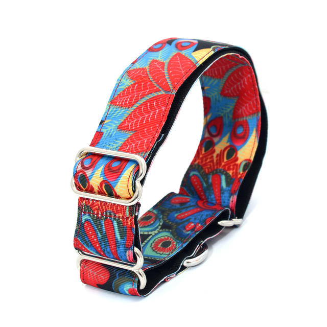 US $9 46 30% OFF|NEW Personalized Fabric Super Strong Durable Reef Dog  Collar Martingale Collar Medium to Large Dog 3 75cm Wide Necklace-in  Collars